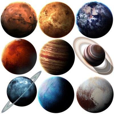 Наклейка Высокое качество, изолированных планет Солнечной системы. Элементы этой фотографии, предоставленной НАСА