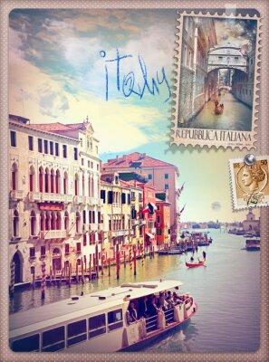 Наклейка Отдых в Италии и Венеции серии