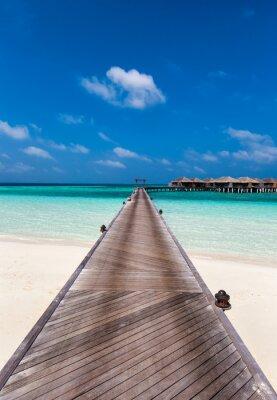 Наклейка Holzsteg цу дер Lagune Ауф ден Мальдивы