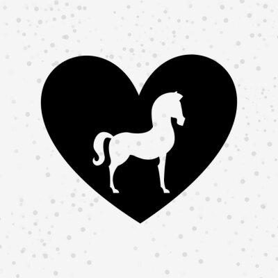 Наклейка дизайн силуэт лошади