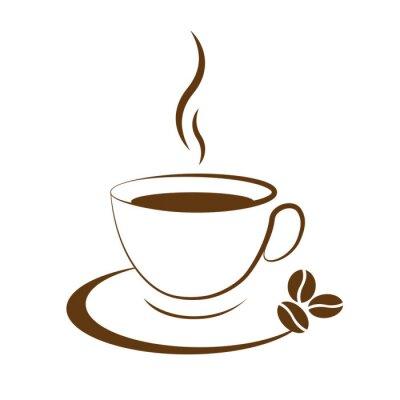 Наклейка hot coffee cup icon