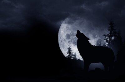 Наклейка Howling Wolf Фон