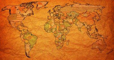 Наклейка hungary territory on world map