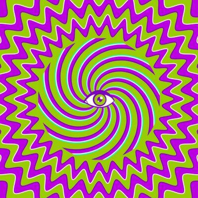 Наклейка Hypnotic ретро постер