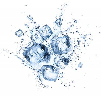 Наклейка Кубики льда - Прохладные освежающие кристаллы с каплями воды