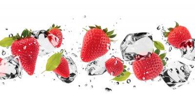 Наклейка Лед фрукты на белом фоне