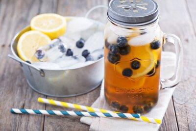 Наклейка Холодный чай с лимоном и черники