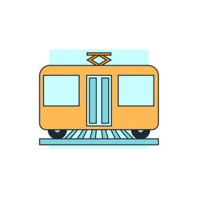 Наклейка Значок вид спереди трамвая