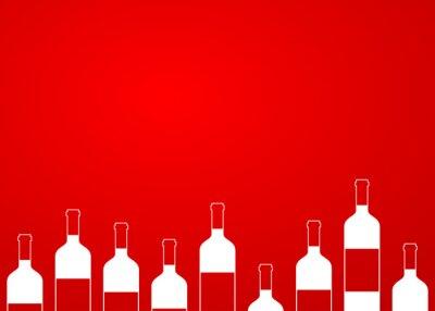 Наклейка Icono плоско botellas де Vino грех алинейной Sobre Fondo degradado # 1