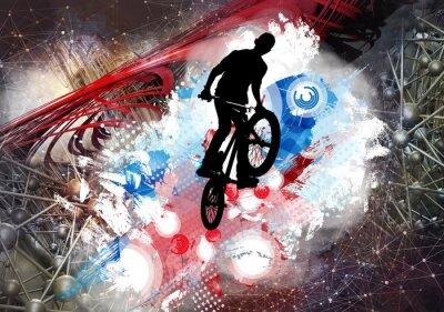 Наклейка Иллюстрация велосипедной перемычки
