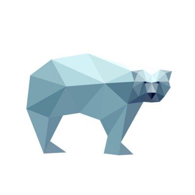 Наклейка Иллюстрация многоугольной медведя