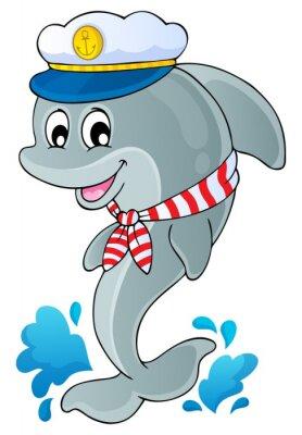Наклейка Изображение с дельфина тему 1
