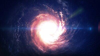 Наклейка Невероятно красивая спиральная галактика где-то в глубоком космосе. Элементы этого изображения, предоставленную NASA