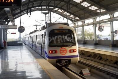 Наклейка Indian modern metro train in Delhi