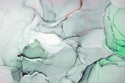 Наклейка Чернила, краски, абстракция. Крупным планом картины. Красочная абстрактная живопись фон. Высокотекстурированная масляная краска. Высокое качество деталей. Алкогольные чернила современная абстрактная ж