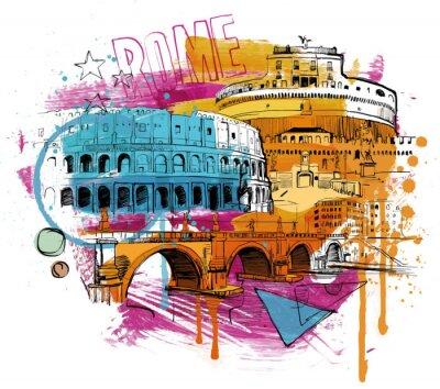 Наклейка Внутри Рима