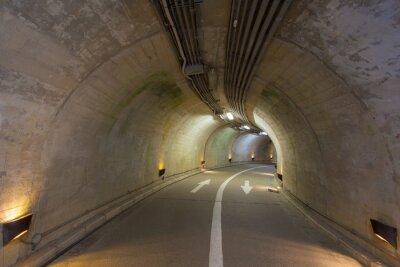 Наклейка Интерьер городской тоннель в горе без движения ..