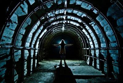 Наклейка Интерьер тоннеля в заброшенной угольной шахте
