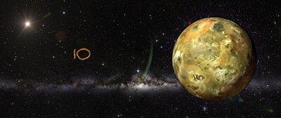 Наклейка Ио в космическом пространстве.