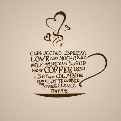 Наклейка Изолированные икона чашкой кофе