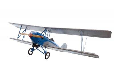 Наклейка изолированных модель самолета на белом