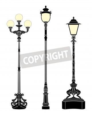 Наклейка Итальянские кованые элегантные фонари
