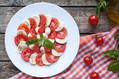 Наклейка Итальянский салат традиционный закуски Капрезе с моцареллой