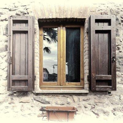 Наклейка Итальянский окна