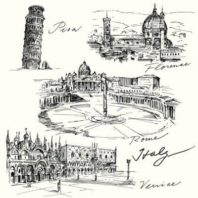 Наклейка Италия - рисованной коллекция