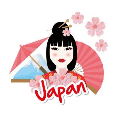 Наклейка Япония дизайн культура