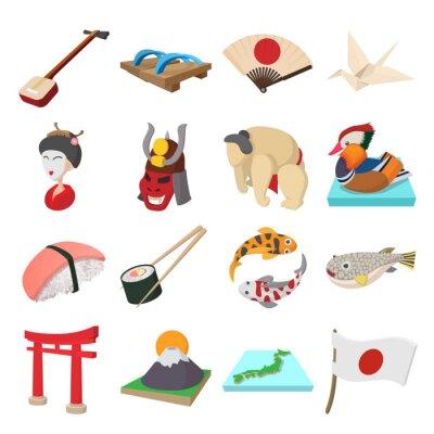 Наклейка комплект Япония иконки