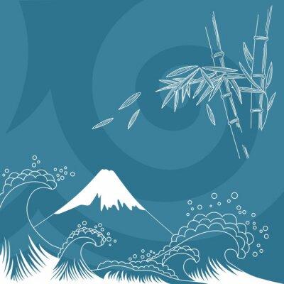 Наклейка Япония стиль иллюстрации
