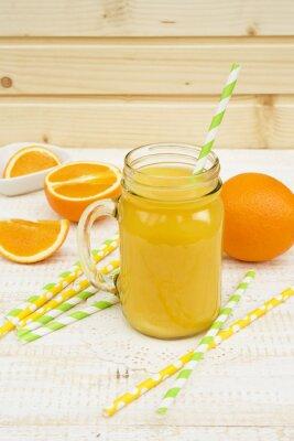 Наклейка банку апельсинового сока