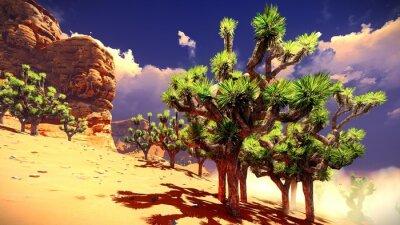 Наклейка Joshua деревья на пустыне
