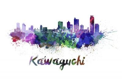 Наклейка Кавагути горизонт в акварели