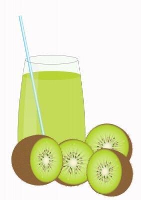 Наклейка Kiiwi фруктовый сок и Киви половинки