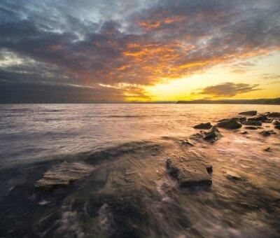 Наклейка Krajobraz Morski, zachód słońca