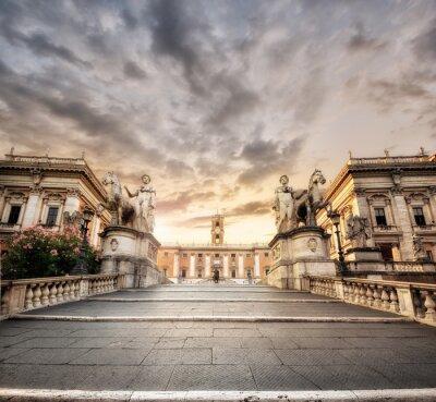 Наклейка La scalinata del Campidoglio, Roma