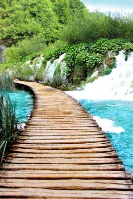 Наклейка Озеро Плитвицкие волшебный езды, Хорватии