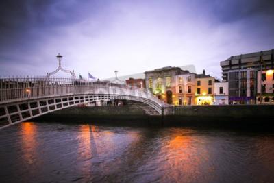 Наклейка Ориентир Ha'penny Мост через реку Лиффи в Дублине