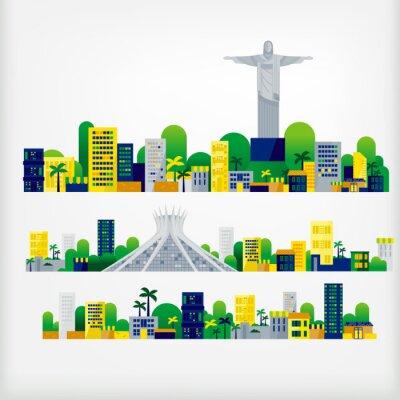 Наклейка ландшафт Бразилии