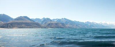 Наклейка пейзаж озера в летний день в Новой Зеландии