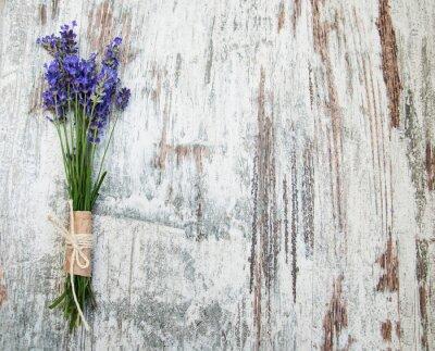 Наклейка цветы лаванды