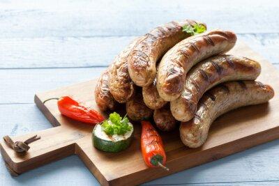Наклейка вкусные колбасы