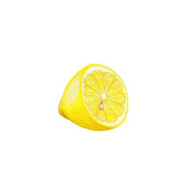Наклейка Лимонный искусство