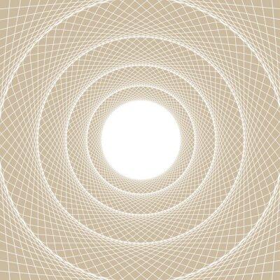 Наклейка Легкий веб-трубка, центрированный вид с внутренней стороны веб-туннеля, с белым открытым сердечником