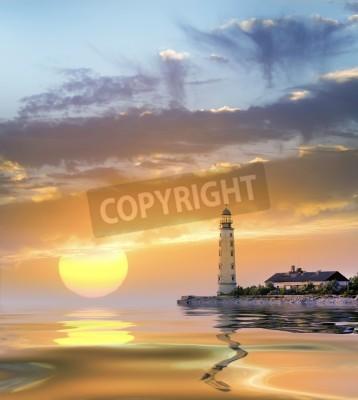 Наклейка маяк