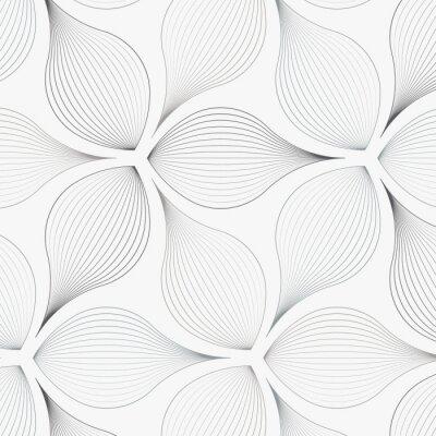 Наклейка линейный вектор шаблон, повторяя абстрактные листья цветка, серая линия листьев или цветов, цветочные. графический чистый дизайн для ткани, события, обои и т. д. шаблон находится на панели образцов.