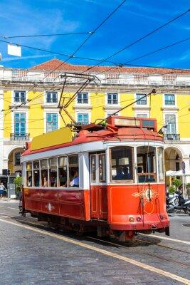 Наклейка Лиссабон трамвай