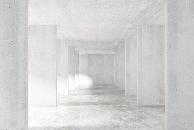 Наклейка Лофт стиль туннеля со многими стенами в светлом пустом здании